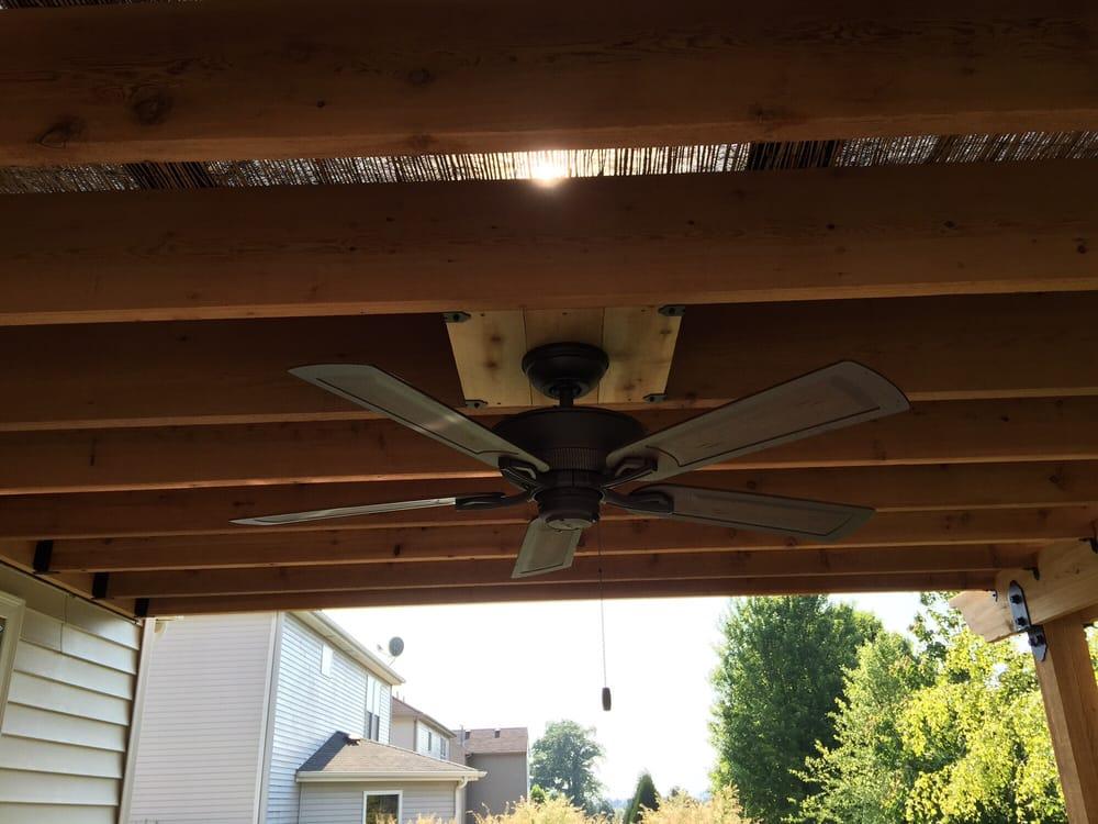 Installing Outdoor Ceiling Fan Pergola Mycoffeepot Org