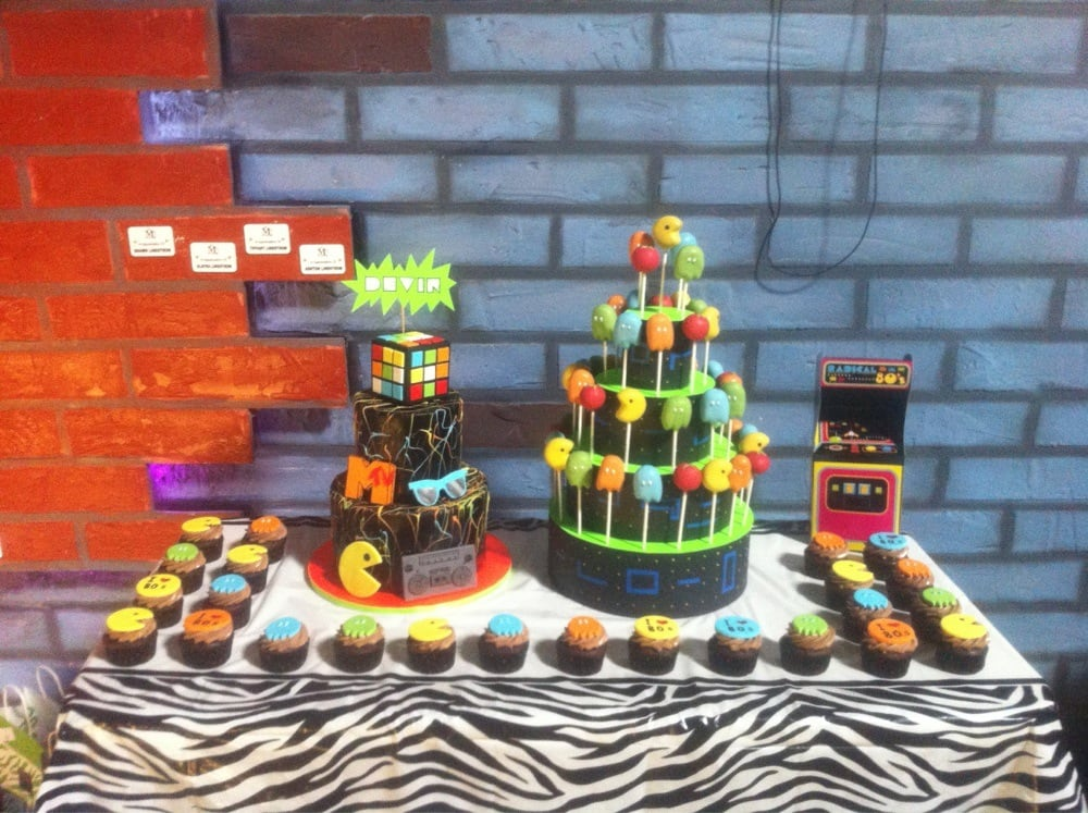 Dessert Table Tali Made For An 80s Theme Birthday