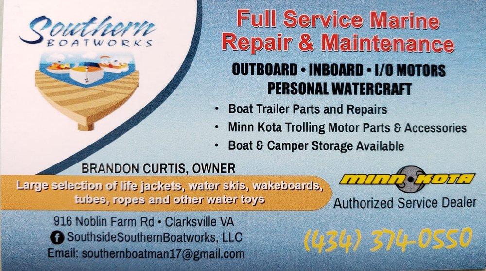 Southside Southern Boatworks: 916 Noblin Farm Rd, Clarksville, VA