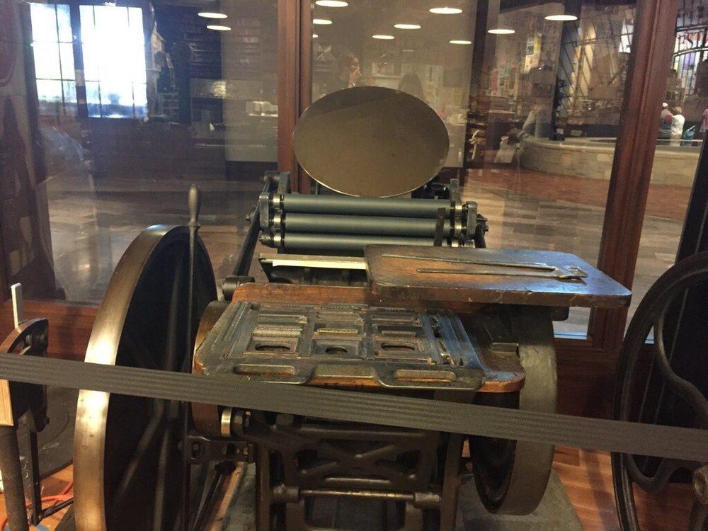 Old printing press - Yelp