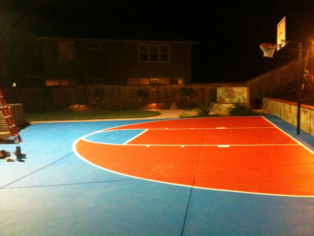 Basketball Court At Night We Wired The Light To Be