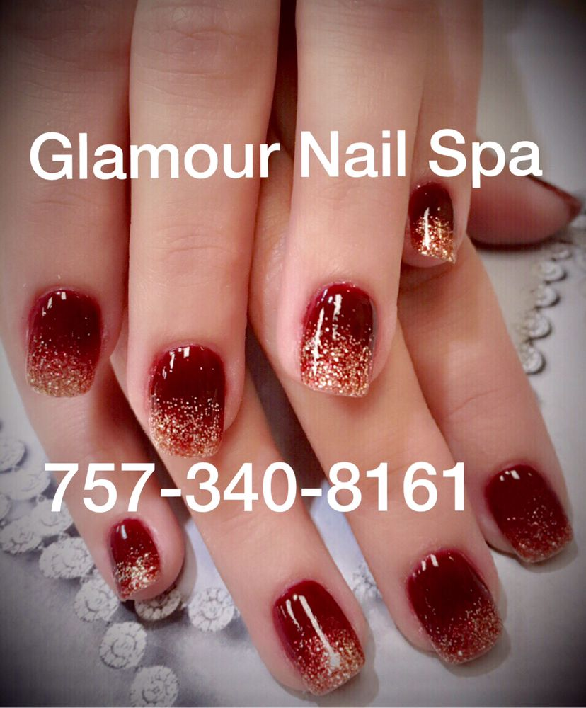 Marble Burgundy Red n Gold Sparkle Ombré dip powder. Look fansy ...