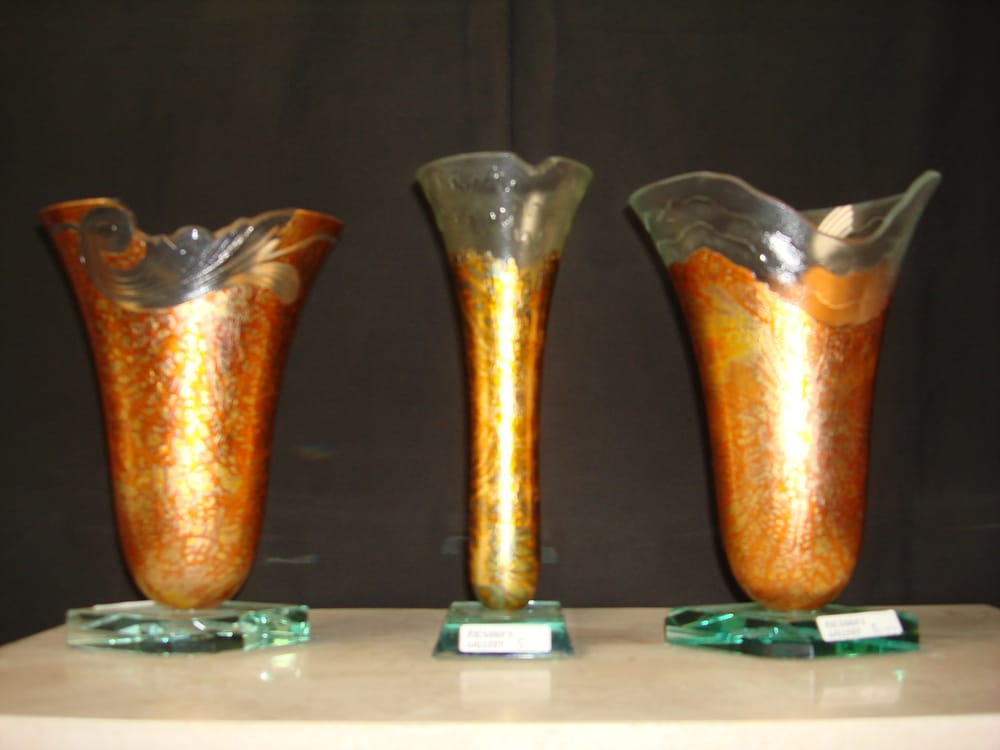 Kristal Art Gold Leaf Vases And Bowels Yelp