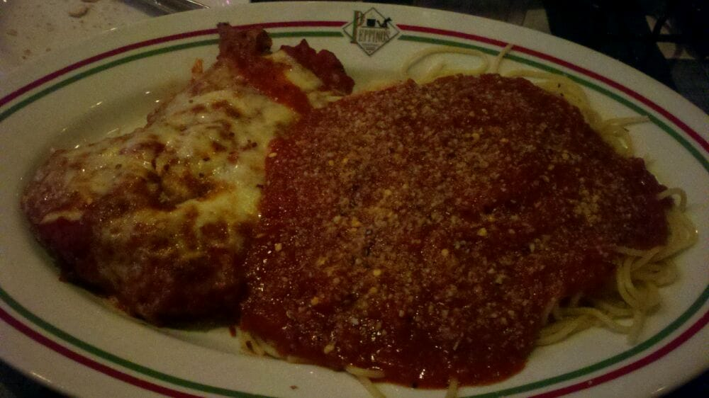 Peppino S Italian Restaurant: Chicken Parmesan With Spaghetti
