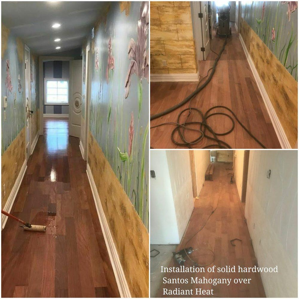 Hardwood Flooring Supply Brooklyn: #Installation Of #solid #hardwood #Santos #Mahogany Over