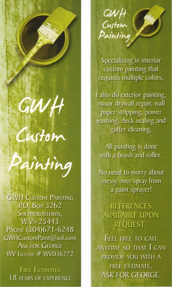 GWH Custom Painting: Shepherdstown, WV