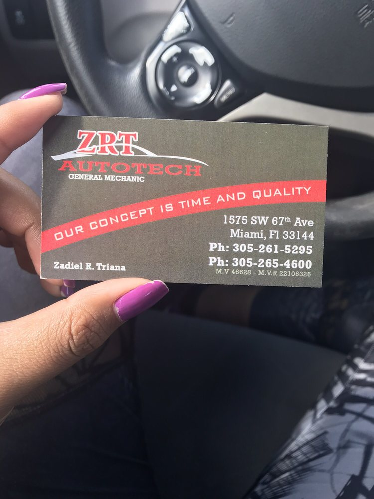 ZRT Auto Tech: 1575 SW 67th Ave, Miami, FL