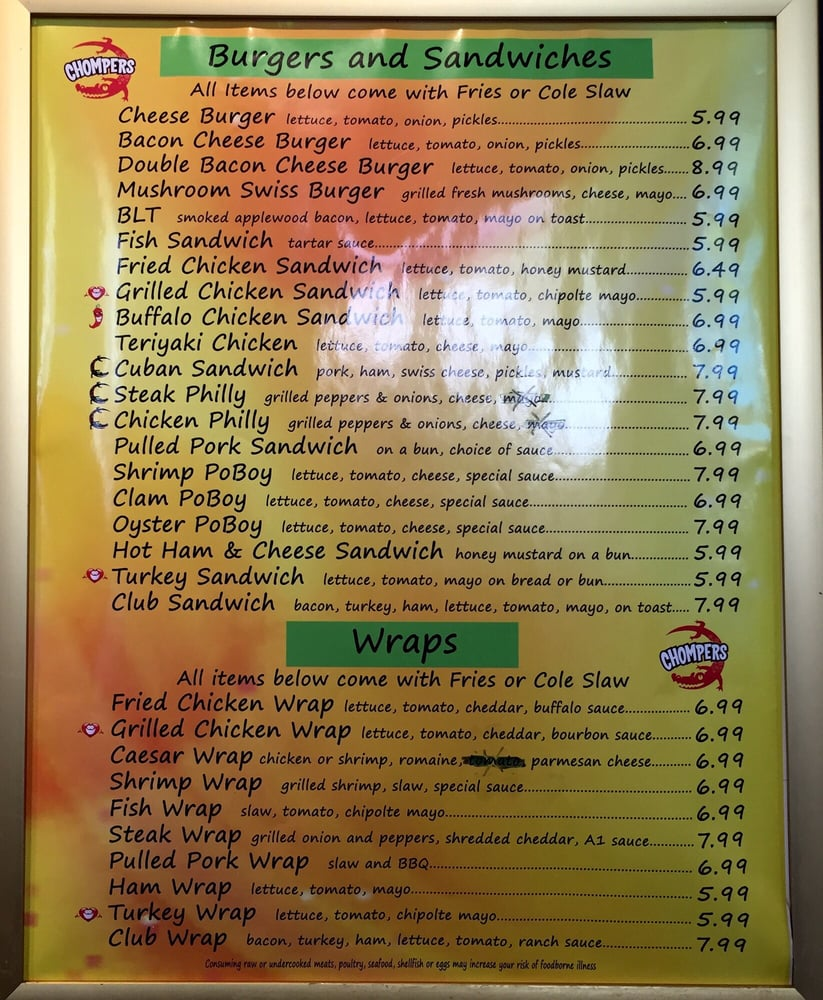 Chompers Diner: 17951 NW US Highway 19, Fanning Springs, FL