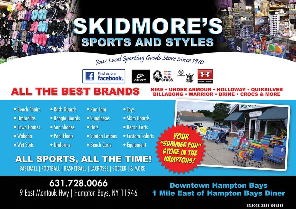 Skidmore's Sports & Styles: 9 E Montauk Hwy, Hampton Bays, NY