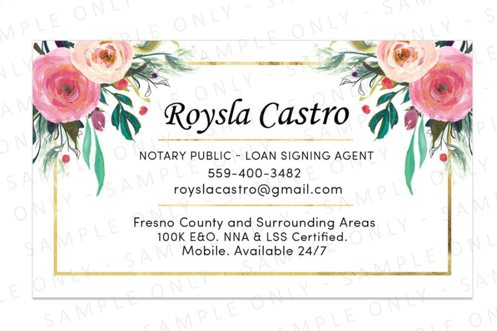 Mobile Notary Public Services Gift Card