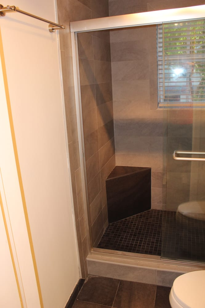 Custom built shower seat - Yelp
