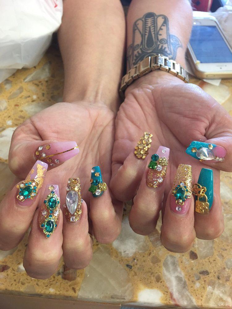 Diamonds and 3D nail art - Yelp