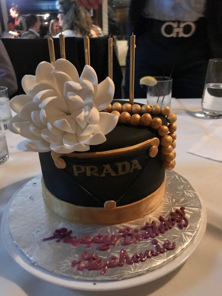 Prada birthday cake that was made for me by Gluten free gourmet! - Yelp