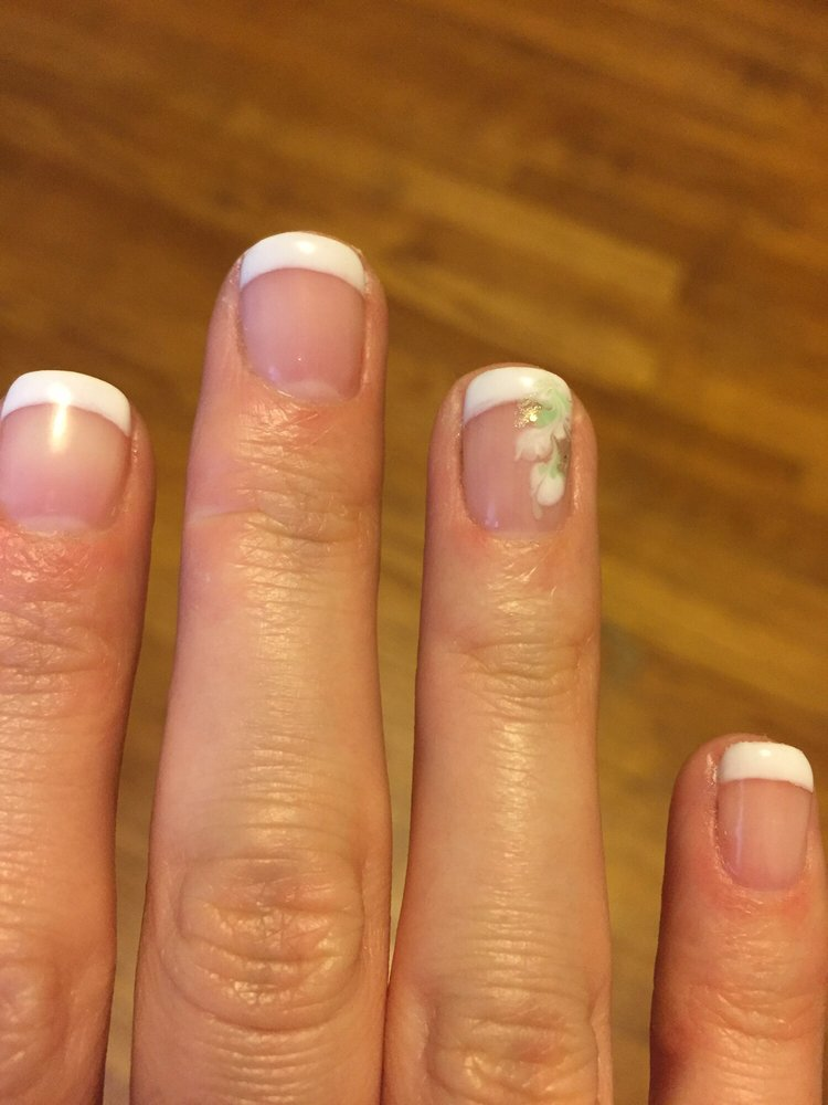 beautiful job on this gel manicure. They don\'t have gems for the ...