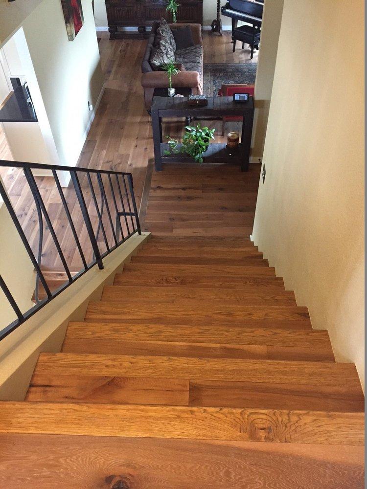 Octavio and alex 39 s precise installation of hickory treads for Americas best flooring
