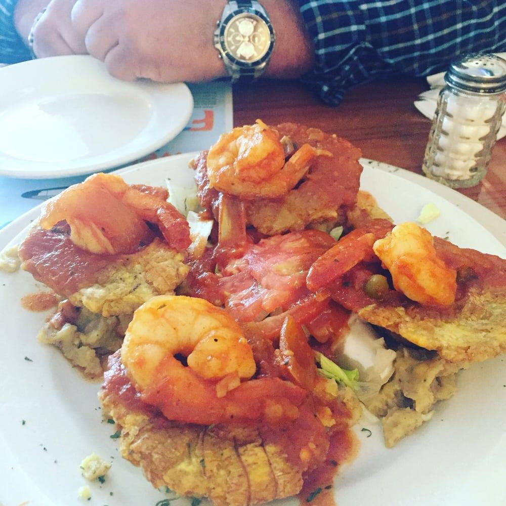 Tostones rellenos con camarones enchilados yelp for Barbara motors inc hialeah fl