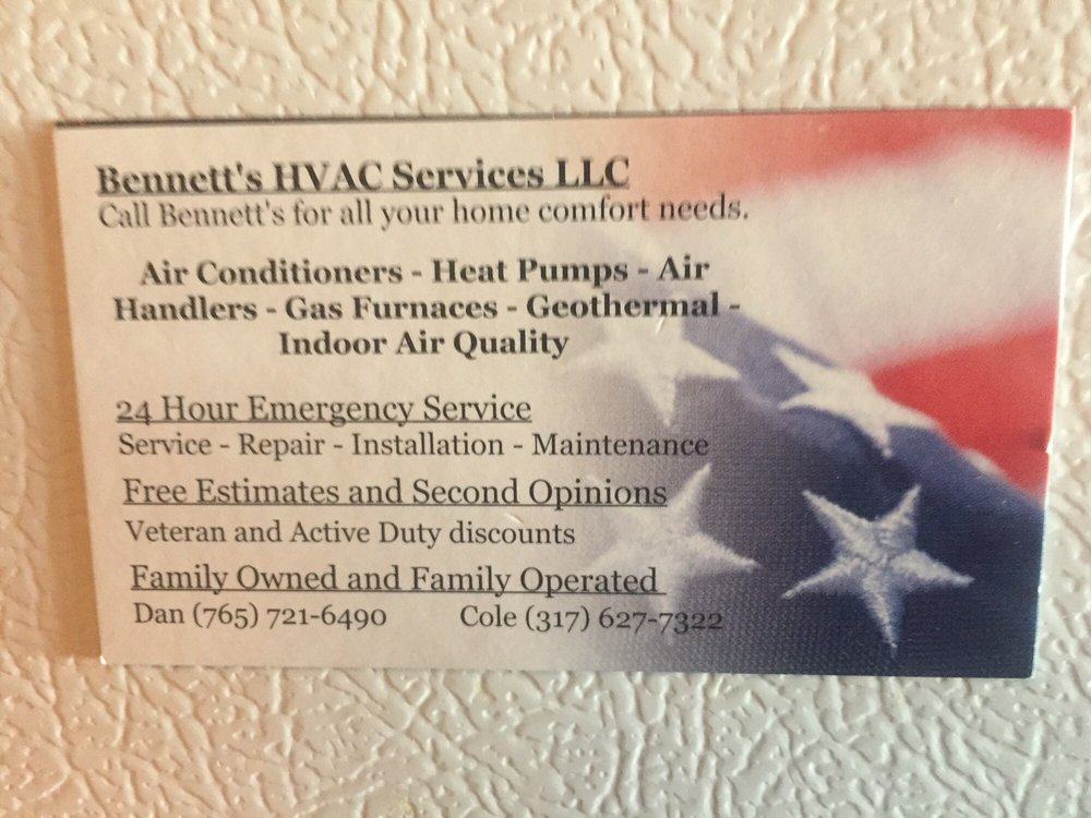 Bennett's HVAC Services: Monrovia, IN