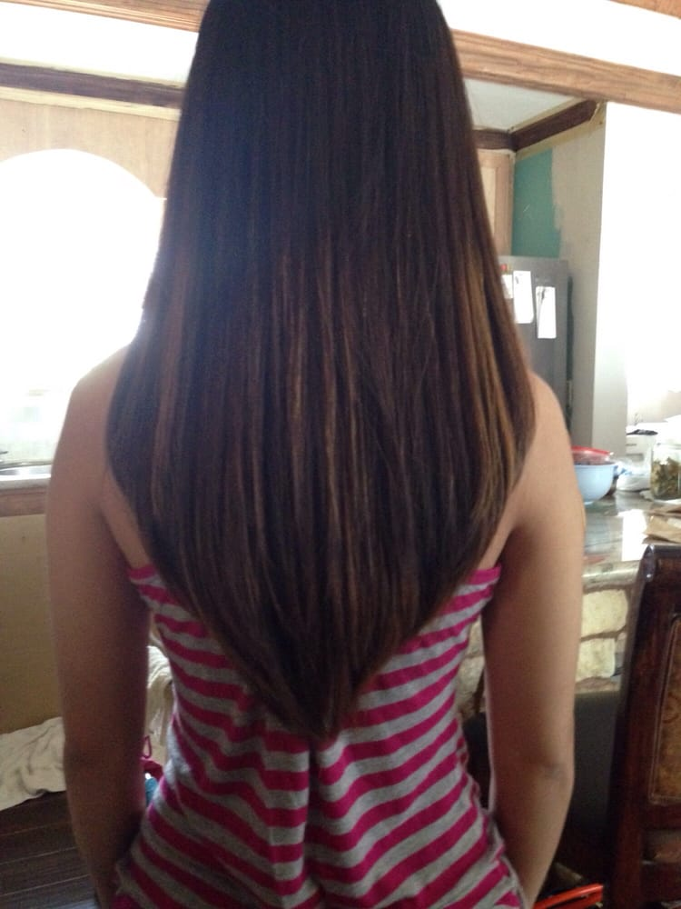 Hair Cut Done By Jessica Asked For Long Layers And A V Cut Yelp
