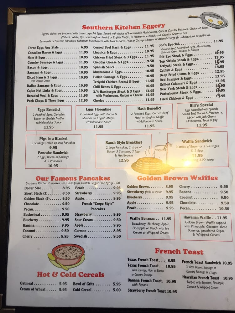 This was the only page on the menu with updated prices. - Yelp