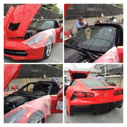 AD Auto Glass - Garden Grove, CA, United States. 2014 Chevy Corvette Windshield Replacement