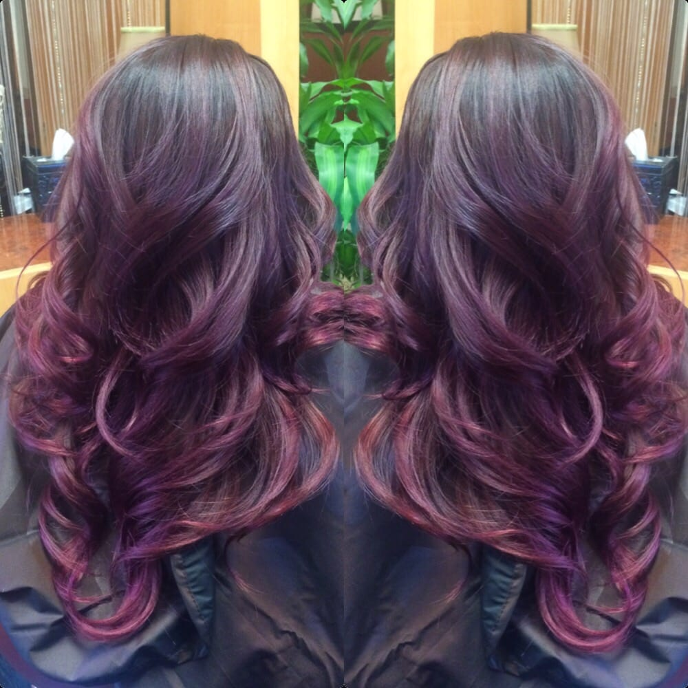 Dark Plum Hair Ombre Www Pixshark Com Images Galleries