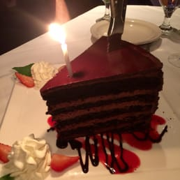 The River Palm Terrace - Edgewater, NJ, United States. My bday 10 layers chocolate cake best cake ever !!!