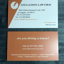 California Lemon Law Learn How To Get A Refund >> Nita Lemon Law Firm 10 Reviews General Litigation 3055