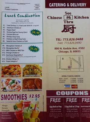 See Thru Chinese Kitchen 800 N Kedzie Ave Chicago, IL Restaurants ...