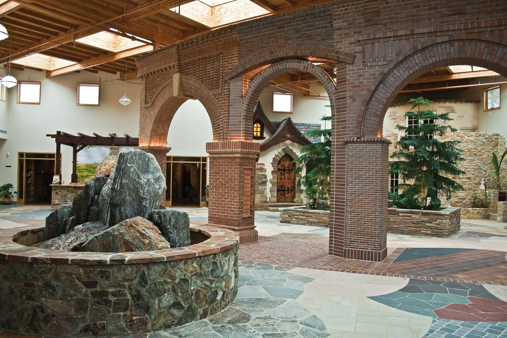 Elegant Brick Archways Displaying Several Lines Of Brick