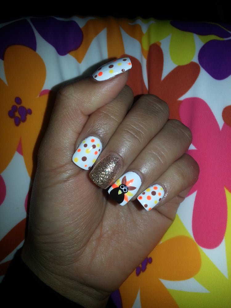 Gobble Gobble Everyone Loving My Turkey Nails Cant Wait For