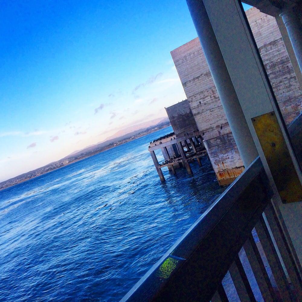 Schooners Coastal Kitchen & Bar suspended over the Monterey Bay is ...
