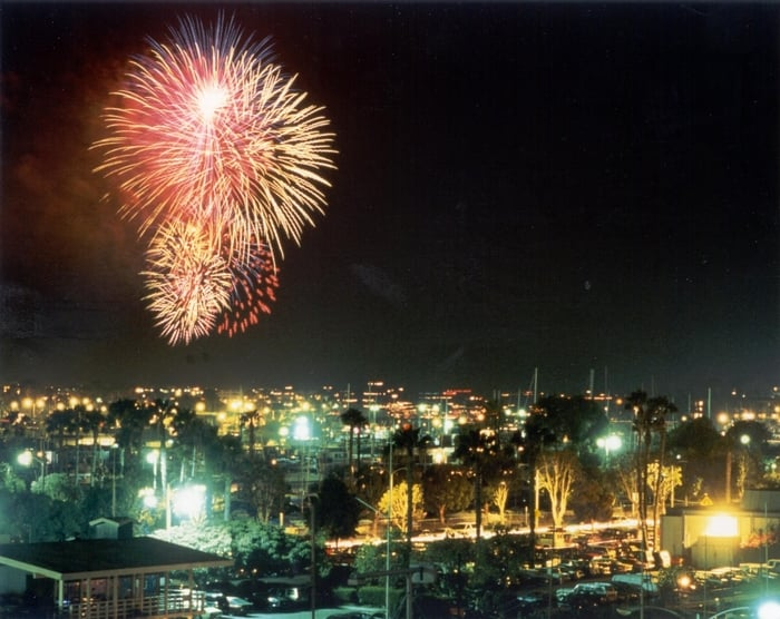 Image result for Burton Chance Park in Marina del Rey fireworks
