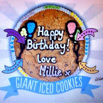 Photo Of Millie S Cookies Glasgow United Kingdom Their Giant Iced For Birthday