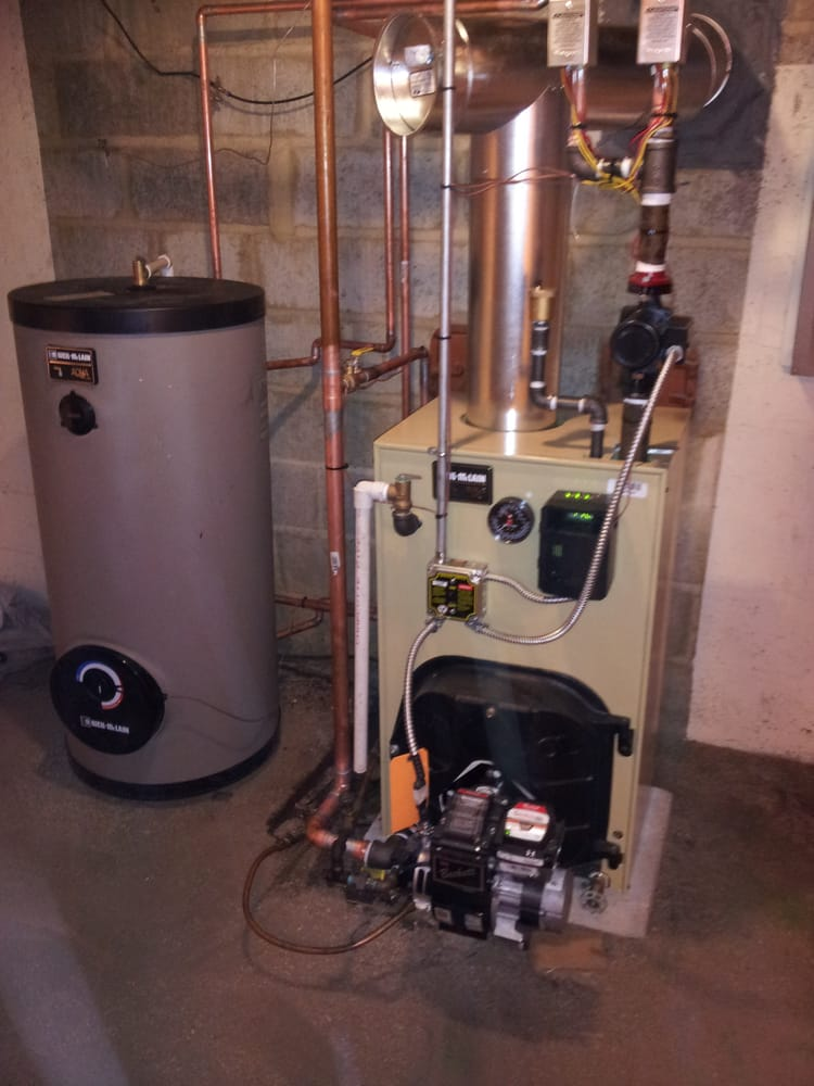 Oil Furnace Hot Water Boiler ~ Weil mclain oil fired boiler with hot water storage tank