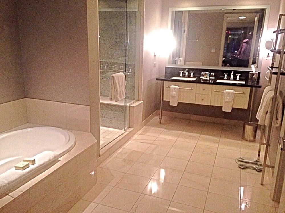 Photo of The Cosmopolitan of Las Vegas   Las Vegas  NV  United States. Bernie Lawrence In Awedome Bathroom At he Cosmopolitan One Bedroom