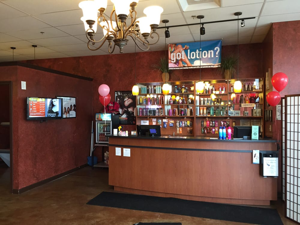 Front Lobby With The Best Indoor Tanning Lotions In The Industry