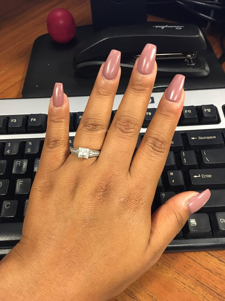 Matte coffin nails. Love them!! - Yelp