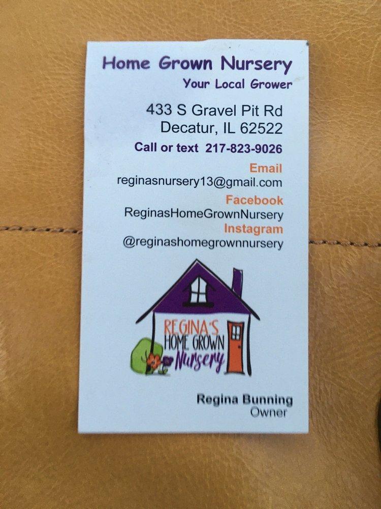 Regina's Home Grown Nursery: 433 S Gravel Pit Rd, Decatur, IL