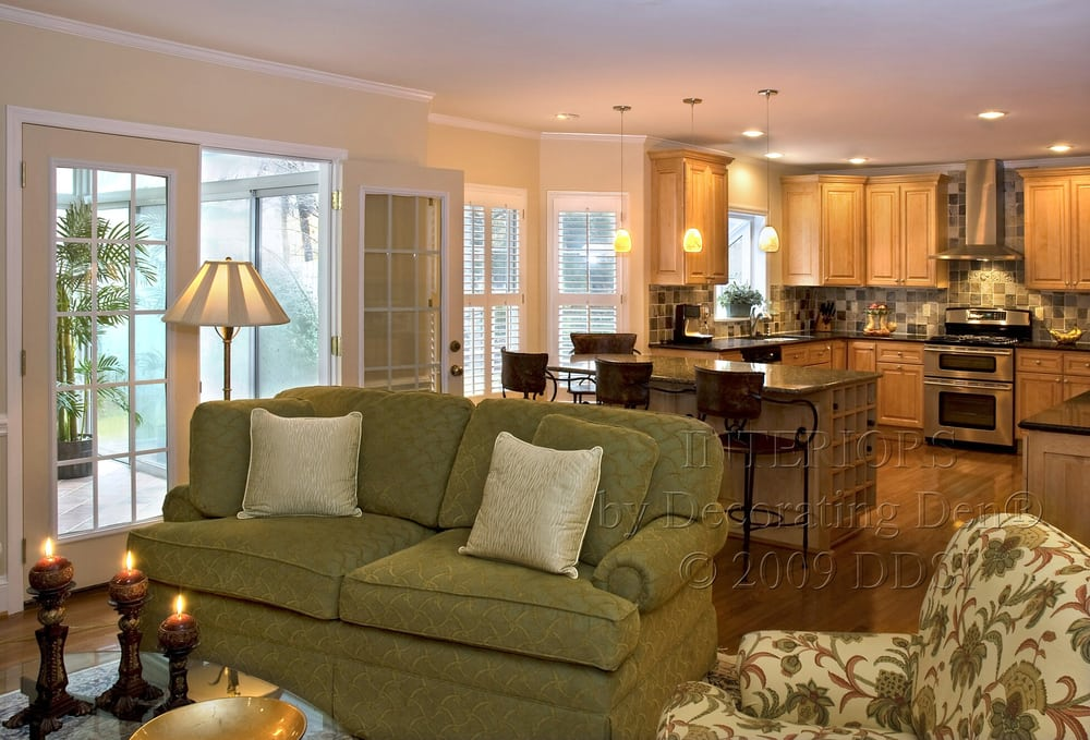 Family Room And Kitchen Combination The Great Room Interior Design And Interior Decorating