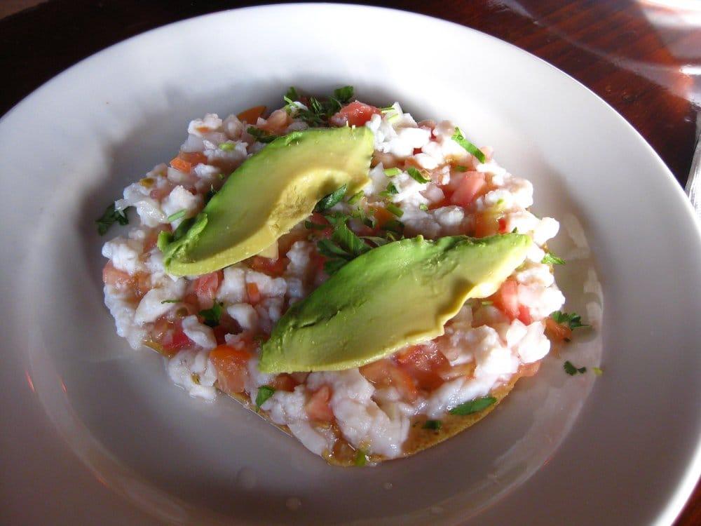 ... States. Tostada de ceviche - lime marinated fish ceviche (5.12.10