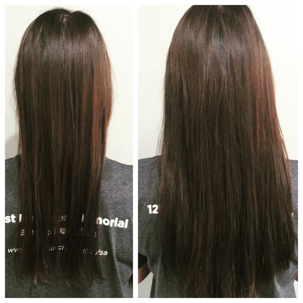 Cut Color And Extensions By Megan Tape In Extensions Are Great For