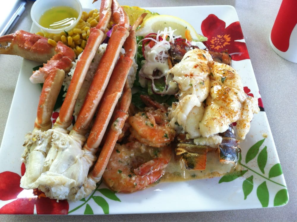 Crab legs shrimp and lobster tail amazing yelp for Blue water fish market