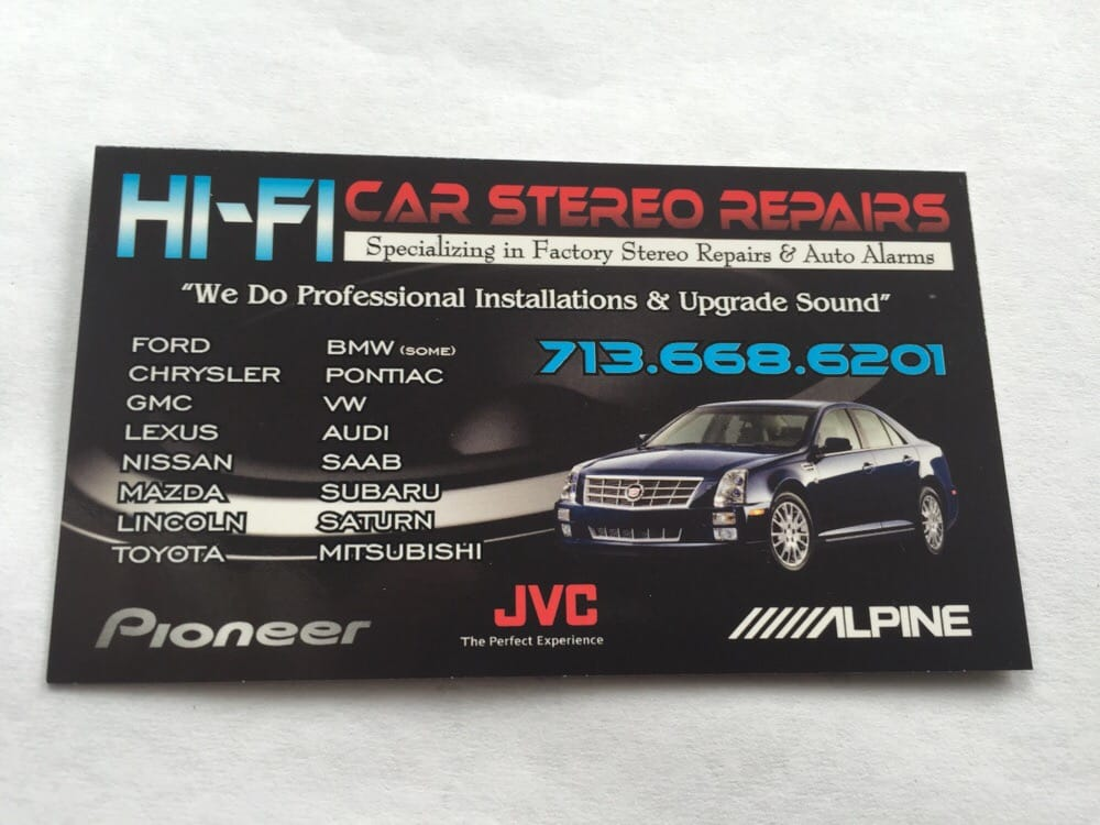 Hifi Car Radio Repair Specialists Stereo Installation 6617 Rhyelp: Oem Radios In Houston Texas At Gmaili.net