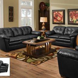 Photo Of Tallahassee Furniture Direct   Tallahassee, FL, United States.  Black Sofa U0026