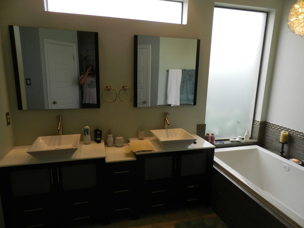 An Amazing Master Bathroom Remodel Install High End Vanities And Delectable Bathroom Remodeling Katy Tx Property