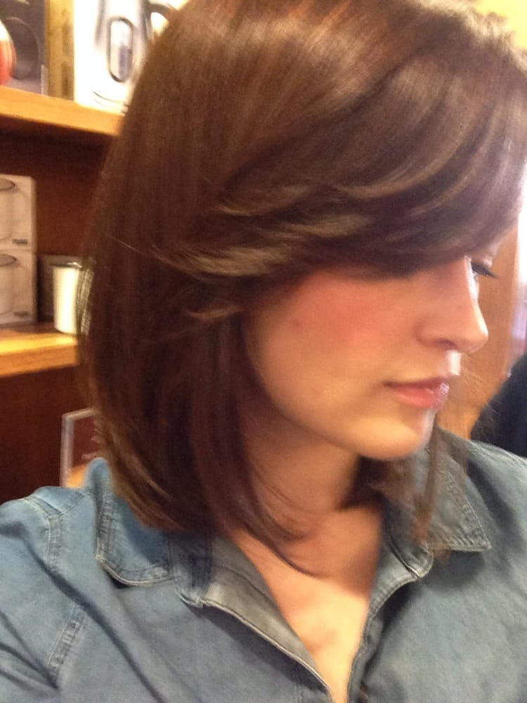 A Long Bob Haircut With Side Bangs By Michelle Yelp