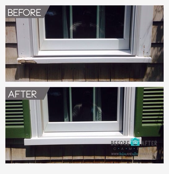 Pvc Window Sill Replacement : Repair of window sill nosing used azeck pvc
