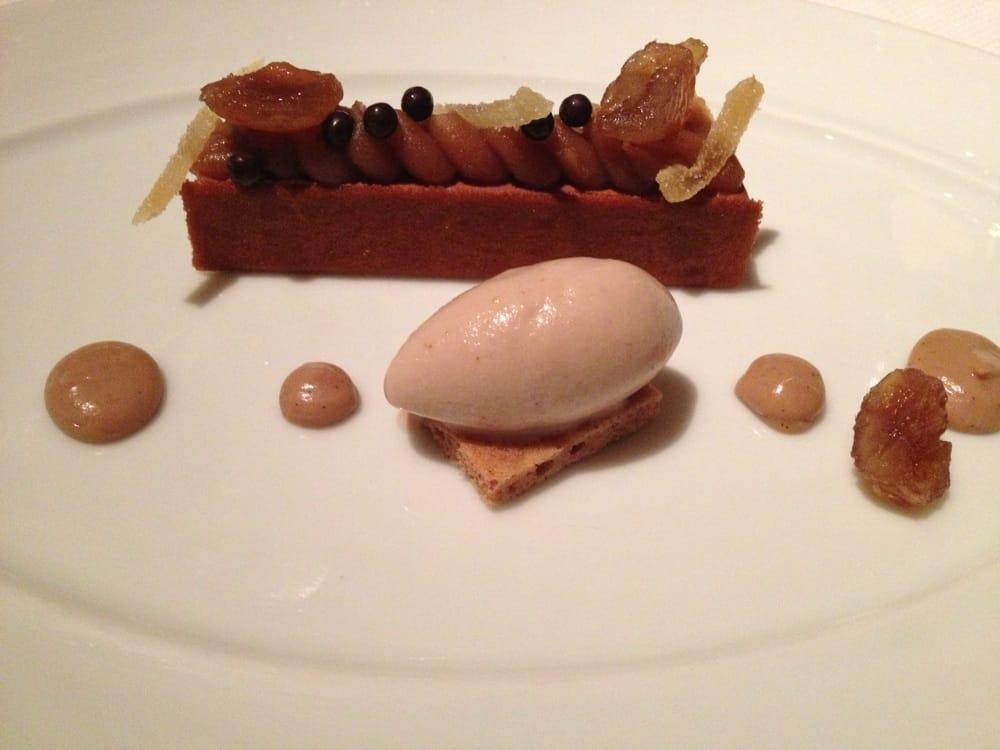 Chocolate cake with chestnut ice cream of Le Bernardin ...