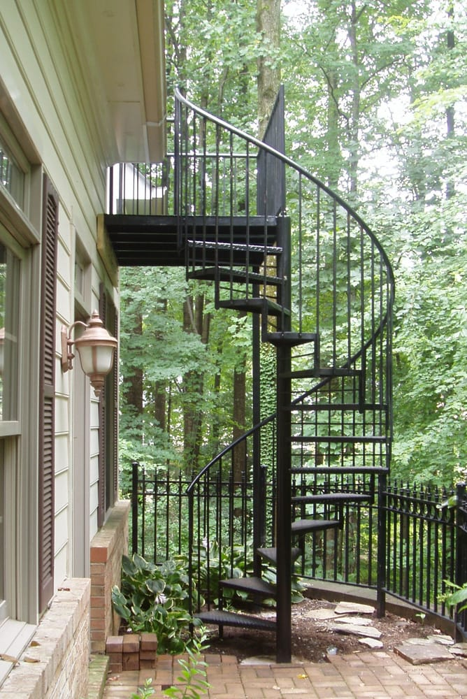 Outdoorindoor Spiral Staircase Classicironworksnet Yelp