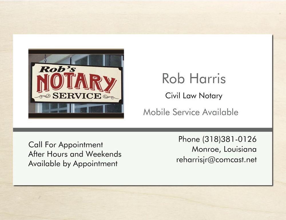 Rob's Notary Service: Monroe, LA
